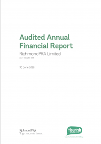 Annual financial report cover 2016