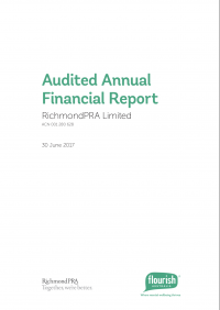 Annual financial report cover 2017