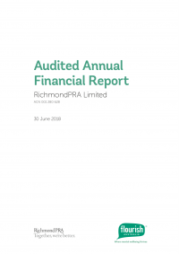 Annual financial report cover 2018